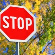 Road sign STOP — Foto de Stock