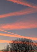 Coucher du soleil et nuages — Photo