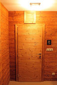 Wooden interior doors — Stockfoto