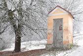 Calvary and winter nature — Stock Photo
