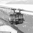 Modern ropeway FUNITEL at hill Chopok - Low Tatras, Slovakia — Foto Stock #37609861