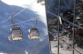 Modern ropeway at hill Chopok - Low Tatras, Slovakia — Stock Photo