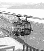 Modern ropeway FUNITEL at hill Chopok - Low Tatras, Slovakia — Stock Photo