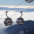 Modern ropeway at hill Chopok - Low Tatras, Slovakia — Stockfoto #37610701