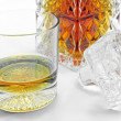 Stock Photo: Crystal whiskey glass