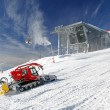 Modern cableway and groomer in ski resort Jasna, Slovakia — Stock Photo #38797433