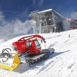 Modern cableway and groomer in ski resort Jasna, Slovakia — Stock Photo #38797589