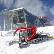 Modern cableway and groomer in ski resort Jasna, Slovakia — Stock Photo #38797761
