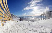 Modern cableway in ski resort Jasna, Slovakia — Stock Photo