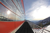 Modern cableway in ski resort Chopok-Juh, Slovakia — Stock Photo