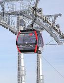 Modern cableway in ski resort Tatranska Lomnica, Slovakia — Zdjęcie stockowe