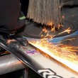 Grinding skis — Stock Photo #40375155