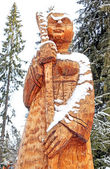 Wooden statue, Slovakia — Stock Photo