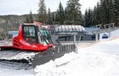 Modern cableway in ski resort Jasna - Low Tatras mountains — Stok fotoğraf