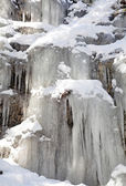 Icicles on rock at Low Tatras, Slovakia — Stock Photo