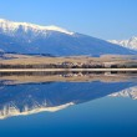 Water reflection on water basin Liptovska Mara, Slovakia — Stock Photo