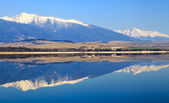 Water reflection on water basin Liptovska Mara, Slovakia  — Stock Photo