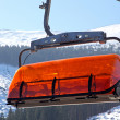 Orange cableway in ski resort Jasna - Low Tatras, Slovakia — Stock Photo