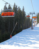 Modern cableway in ski resort Jasna, Slovakia — Photo