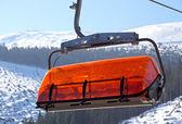 Orange cableway in ski resort Jasna - Low Tatras, Slovakia — Stock Photo