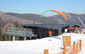 Moderne kabelbaan funitel in ski resort jasna - lage Tatra spoortraject — Stockfoto