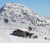Chalet on hill Chopok - Low Tatras mountains, Slovakia — Stock Photo