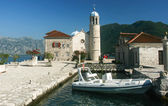Church at islet in the bay of Kotor, Montenegro — Stock Photo