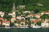 Small village at the bay of Kotor - Boka Kotorska, Montenegro — Stock Photo
