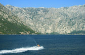 Sea doo at the bay of Kotor - Boka Kotorska, Montenegro — Stock Photo