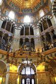 Interno della cattedrale di aquisgrana, germania — Foto Stock