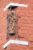 在大厦-亚琛,德国老雕像 — 图库照片