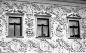 Facade of old house at city Presov, Slovakia — Stockfoto