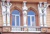 Facade of old house at city Presov, Slovakia — Foto de Stock