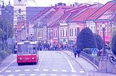スロバキアの都市 presov の中心 — ストック写真