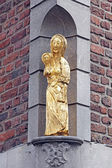 Old statue at the building - Aachen, Germany — Stock Photo