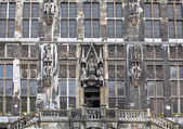 Facade of town hall at Aachen, Germany — Stockfoto