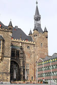 Facade of town hall at Aachen, Germany — Stock Photo