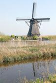 Windmills at Kinderdijk, Netherlands — Stock Photo