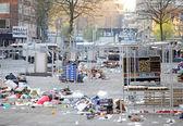 オランダ ロッテルダム - マーケットプレイスでガベージ — ストック写真