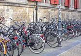 Lots of bike in Delft, Netherlands — Stok fotoğraf