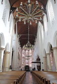 Protestant church - Oude Kerk in city Delft, Netherlands — Stockfoto