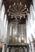Protestant church - Oude Kerk in city Delft, Netherlands — Stock Photo