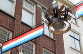 Decorations in the streets of city The Hague, Netherlands — Stock Photo