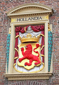 Symbol HOLLANDIA on the building in the city The Hague, Netherla — Stock Photo
