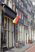 Gay community in Red light disctrict, Amsterdam - Netherlands — Stock Photo