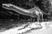 Realistic model of dinosaur - Diplodocus — Stock Photo