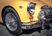 Detail of a veteran car — Stock Photo