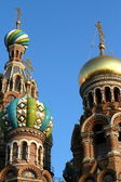 Domes of the Savior on Spilled Blood in the blue sky — Stock Photo