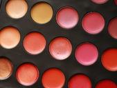 Professional palette of lipsticks — Stock Photo