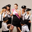 Stock Photo: Ideas for hen party: find garter